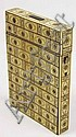 A Victorian studded ivory card case, height 10.5cm