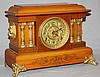 Seth Thomas mantel clock with lion head mounts