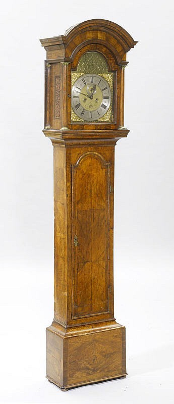 A LONGCASE CLOCK WITH DATE AND SECOND, George II,