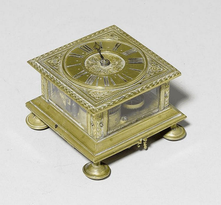 A BAROQUE TABLE CLOCK, 17th c. The movement signed