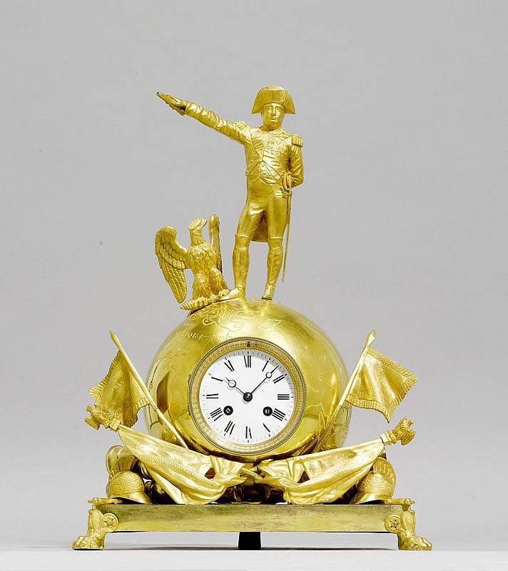 A GILT BRONZE MANTEL CLOCK, Napoléon III, Paris.