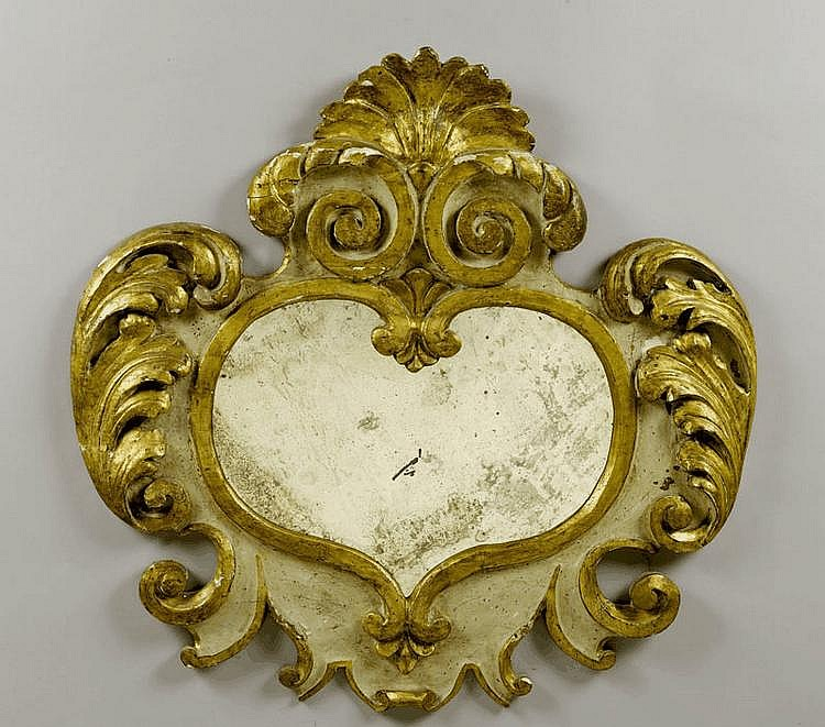 A CARTOUCHE SHAPED MIRROR, Baroque, Italy, 17th c.