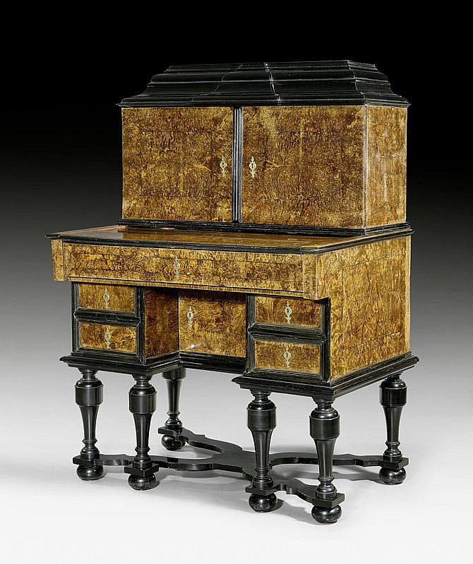 SECRETAIRE WITH UPPER SECTION, known as a 'bureau