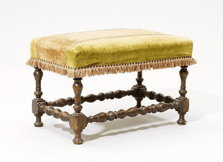 A LOUIS XIV STYLE STOOL, France, 19th c. Turned