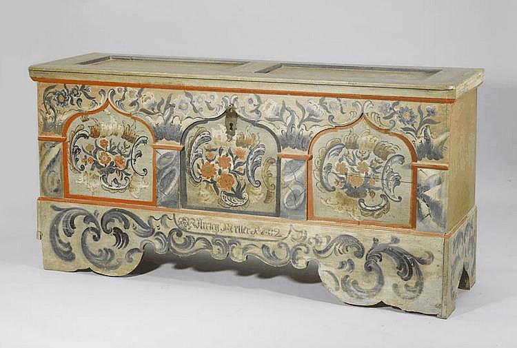 A PAINTED CHEST, Toggenburg, in the manner of