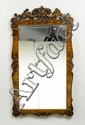 A CARVED WALNUT MIRROR, Louis Philippe. H 144, W