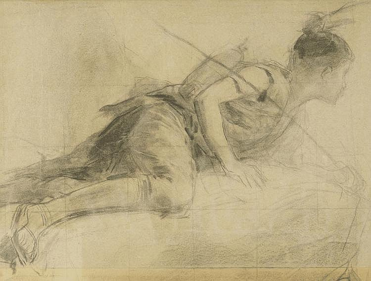 ANKER, ALBERT (1831 Ins 1910) Double page study.