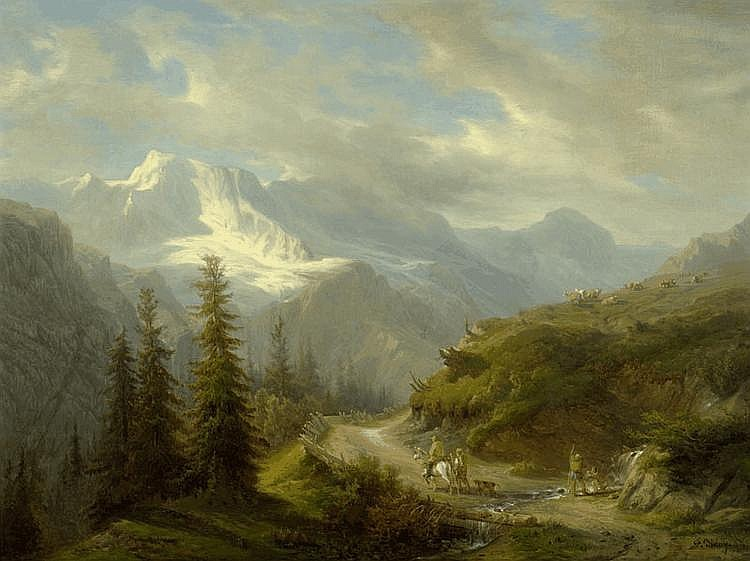 DIDAY, FRANCOIS (1802 Geneva 1877) View from the