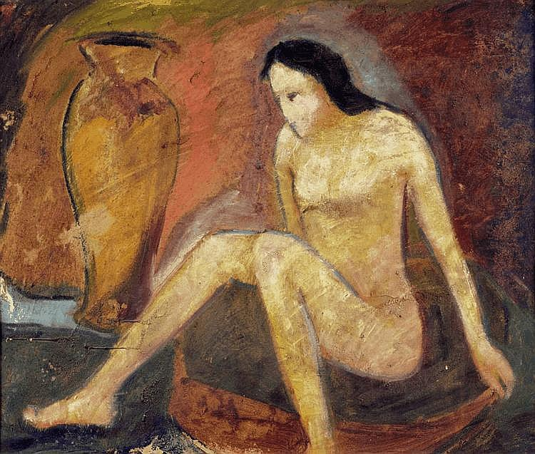 BAUMEISTER, WILLI (1889 Stuttgart 1955) Seated