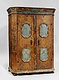 A PAINTED CUPBOARD, Tirol, dated 1802 and bearing