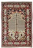 FERAGHAN antique. Beige mihrab with a tree of