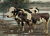 ZÜGEL, HEINRICH (1850 Munich 1941) Two cows in a