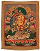 AN EMBROIDERED THANKA OF JAMBHALA. China, around