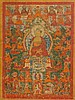 TANGKA OF SHAKYAMUNI.Tibet, 19th c. 84x59 cm.Below