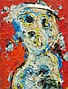 KAREL APPEL1921 - 2006Fille. 1963.Oil on canvas.