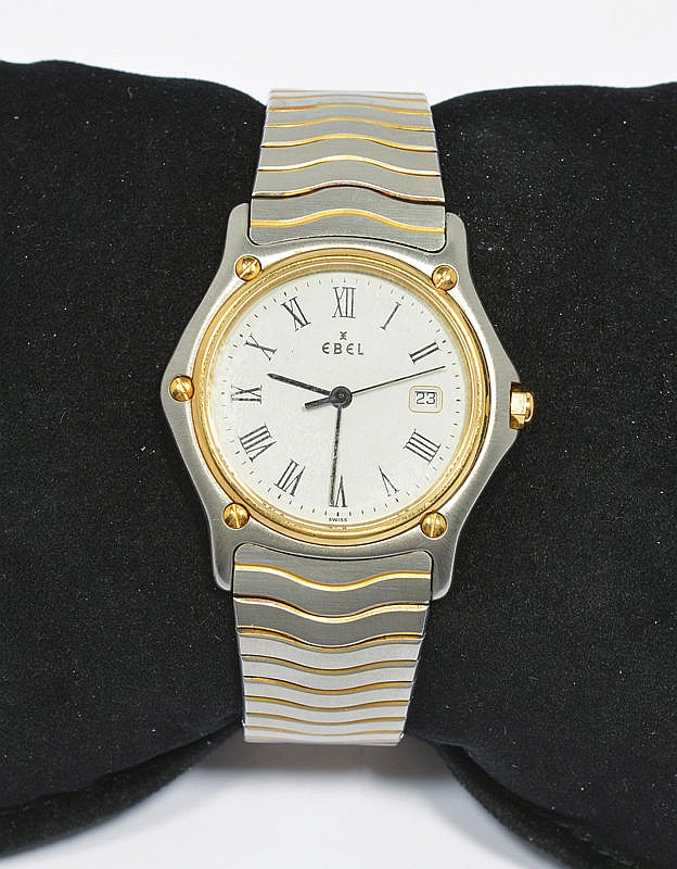 WRISTWATCH, EBEL SPORT CLASSIC WAVE, 1990s.Steel