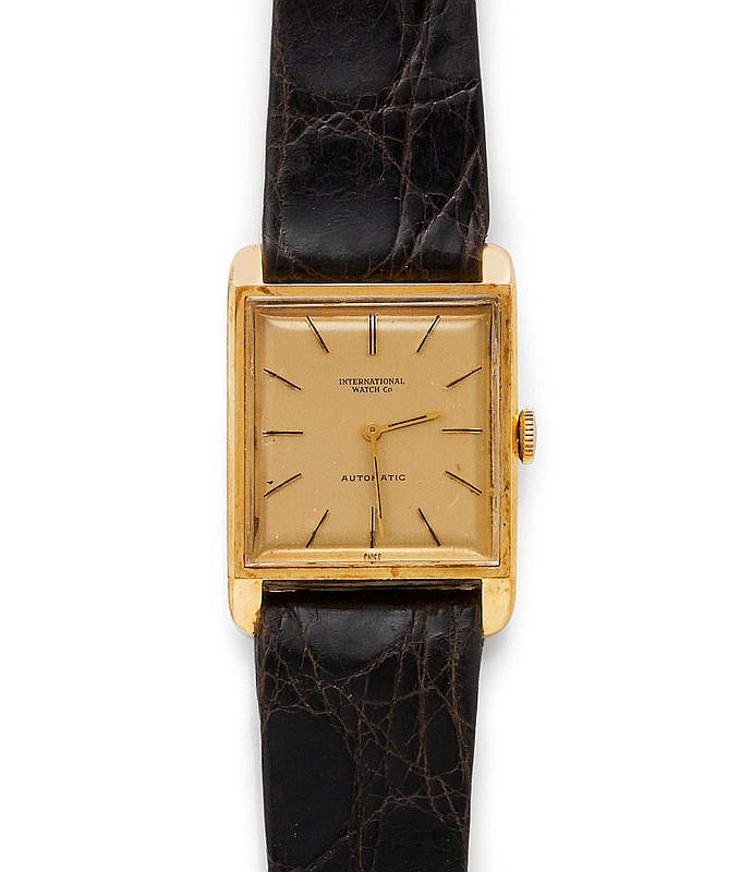 WRISTWATCH, AUTOMATIC, IWC, 1970s.Yellow gold