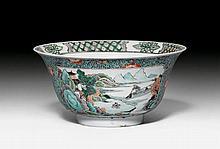 FAMILLE VERTE-KUMME. China, Kangxi-Periode, D 19,8
