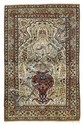 ISFAHAN antique.Beige mihrab with light blue