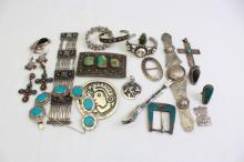 20 PIECE LOT VINTAGE MEXICAN STERLING JEWELRY