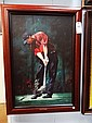 Tiger Woods - Red Shirt Sunday - Giclee on Canvas