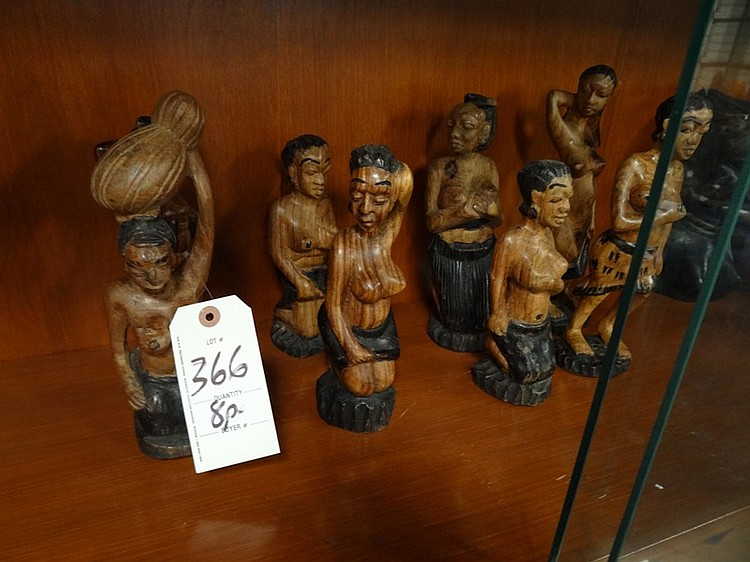 8pc Wood Figures