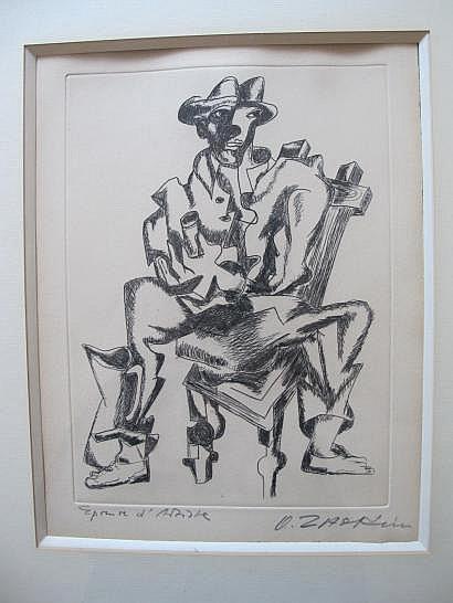 Ossip ZADKINE (1890-1967) L'Homme au verre.