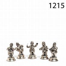 Silver musicians figures
