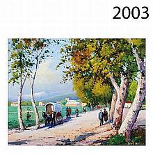 Promenade. Oil on canvas