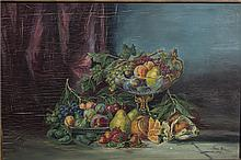 STILL LIFE OF FRUIT OIL PAINTING