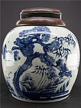 CHINESE PORCELAIN WHITE BLUE GINGER JAR