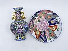 TOBACCO BOWLS AND ONE FAMILLE ROSE VASE