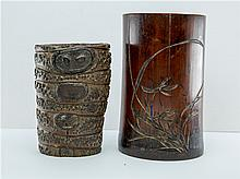 TWO CHINESE BRUSHPOTS