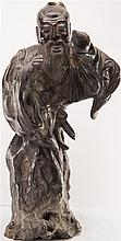 CHINESE ROSEWOOD WISE SENIOR STATUE