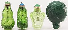 4 CHINESE PEKING GLASS SNUFF BOTTLES