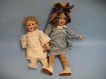 Armand Marseille bisque headed doll, No. 390 with