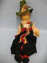 Lenci felt doll wearing Italian regional dress, 16