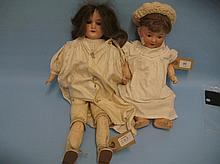 Armand Marseille bisque headed doll with open eyes