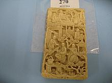 Small 19th Century Chinese carved ivory visiting c