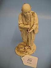 Late 19th Century Japanese carved ivory figure of