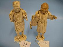 Two late 19th Century Japanese carved ivory figure