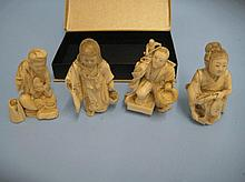 Group of four small late 19th / early 20th Century