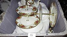 Royal Albert Old Country Roses pattern dinner and