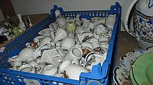 Quantity of various crested china