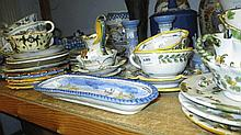 Quantity of various Italian Faience cups, saucers,