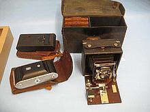 Pony Primo folding camera in original leather case