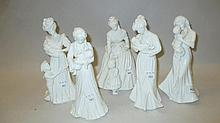 Group of five modern Royal Worcester white glazed