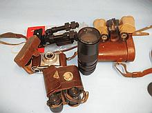 Miscellaneous binoculars, cameras and photographic