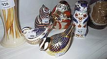Collection of five various Royal Crown Derby paper
