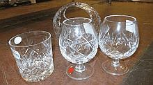 Large quantity of Royal Brierley cut glass wine gl